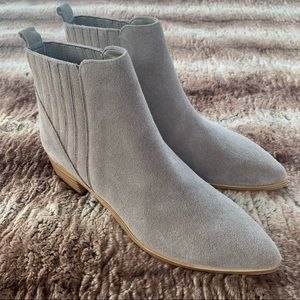 Marc Fisher Yolli Bootie Light Natural Suede